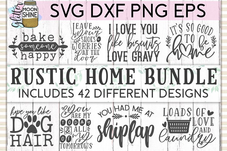 Rustic Home Bundle of 42 SVG DXF PNG EPS Cutting Files example image 1