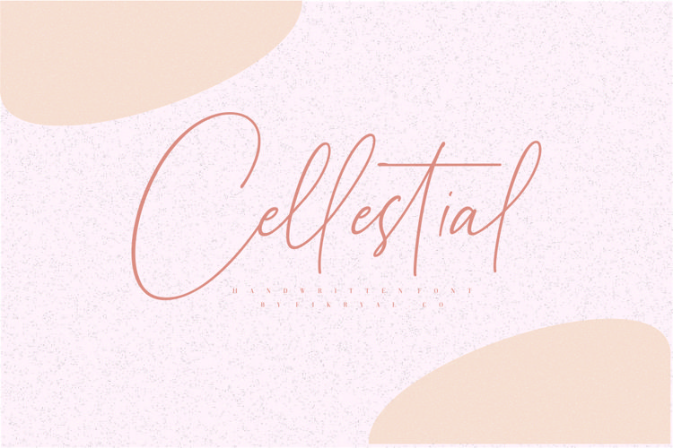 Cellestial // Handwritten Font example image 1
