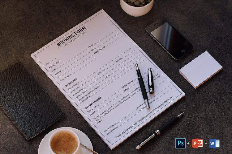 Client Booking Form for Photographers | Client Contract example image 1