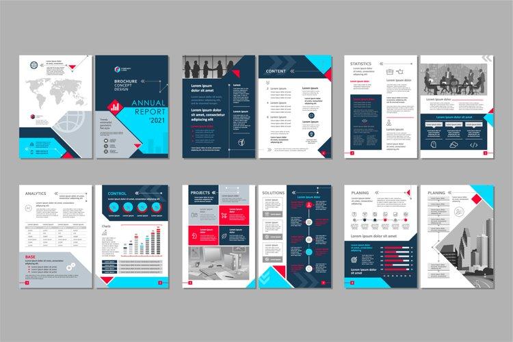 Brochure template concept creative design. example image 1