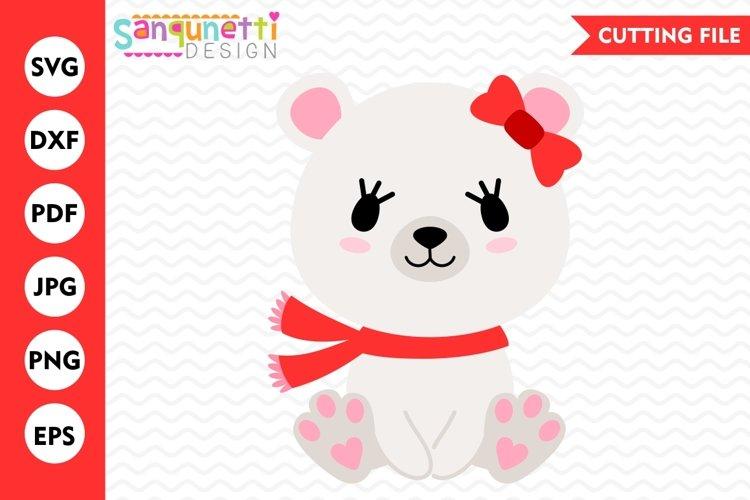 Polar Bear SVG, polar bear clipart, Winter svg, Christmas