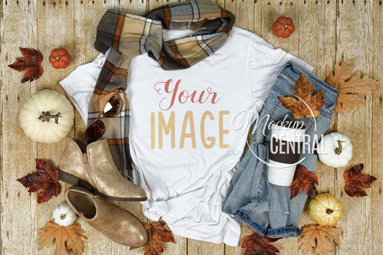 Girl's Fall Shirt Mockup T-Shirt Styled Fashion Apparel JPG example image 1