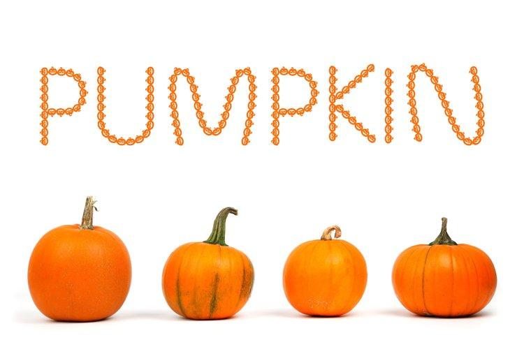 Pumpkin Halloween Font example image 1