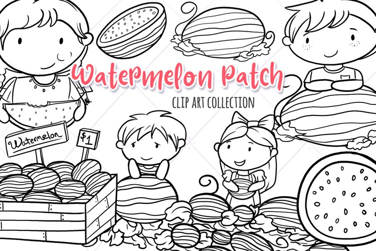 Watermelon Patch Digital Stamps