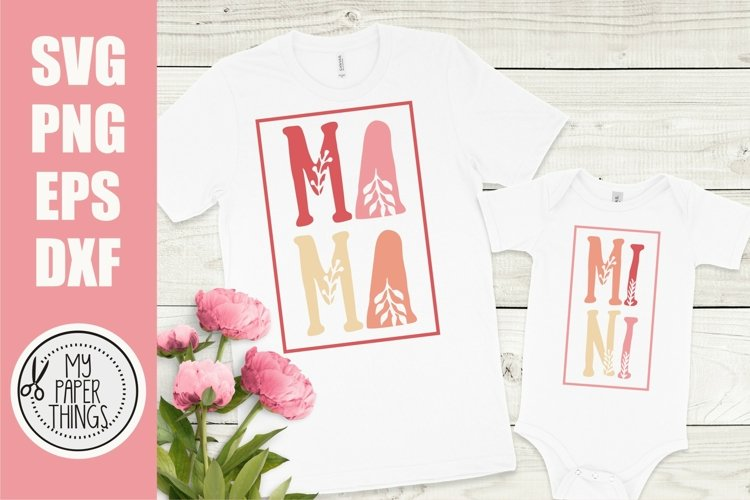 Mommy and me svg Bundle | Mama and mini svg Bundle - Free Design of The Week Design17
