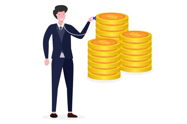 Financial Check-Up. Business Concept Illustration example image 1