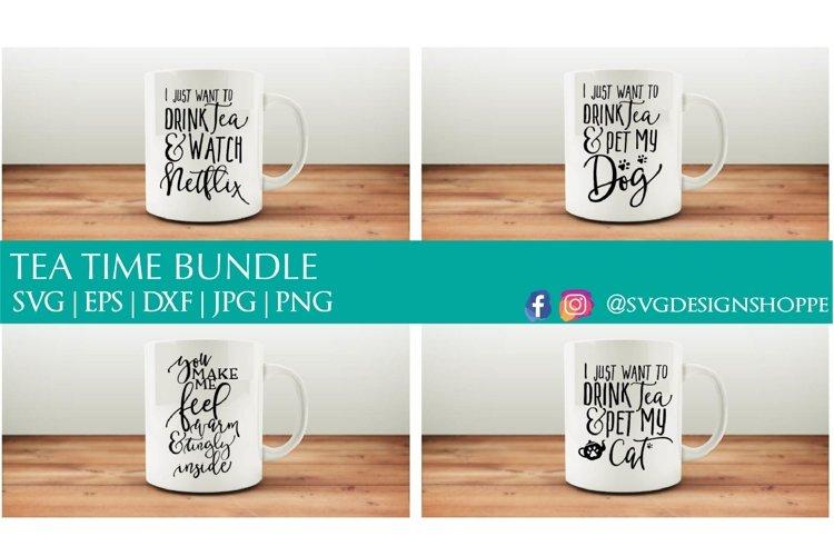 Tea Time Svg Bundle 108539 Svgs Design Bundles