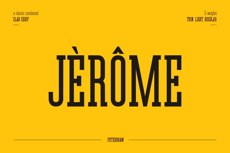 Jerome - Condensed Slab Serif example image 1