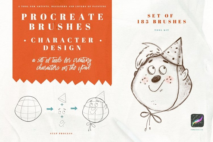 Character Design Brush for Procreate Character Design Brush example image 1