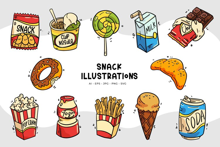 Snack Illustrations