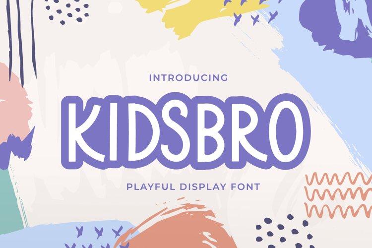 Kidsbro - Kids Display Font example image 1