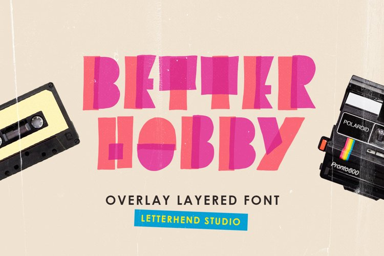Better Hobby - Overlay Layered Font example image 1