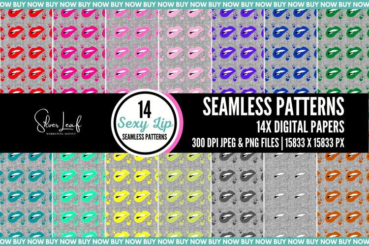 Sexy Lip Seamless Patterns example image 1