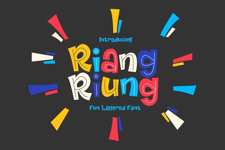Riangriung - Fun Layered Font