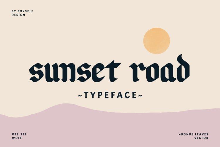 Sunset Road Typeface example image 1