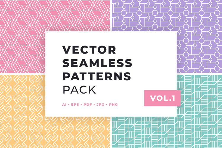 Vector Seamless Patterns Pack Vol.1
