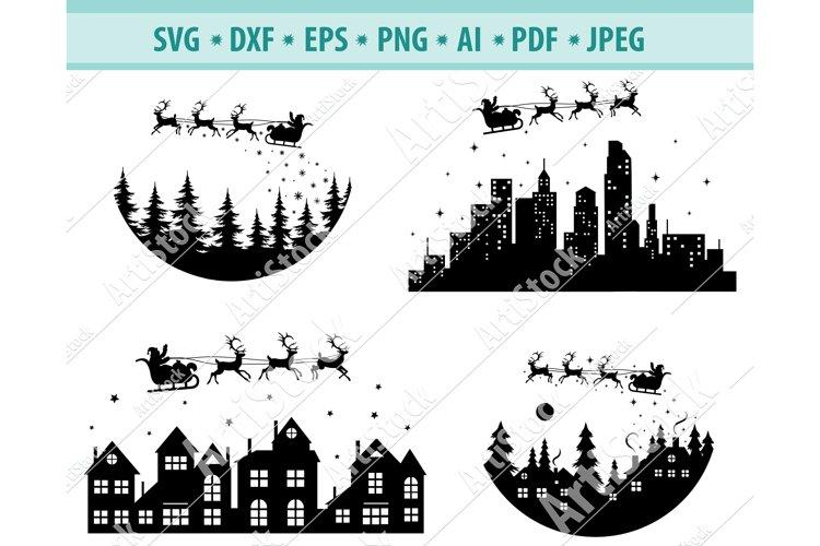 Christmas svg, Santa svg, Christmas Night Svg, DXF, PNG, EPS