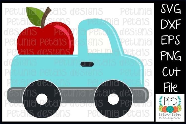 Apple Pickup Truck SVG 11296 example image 1