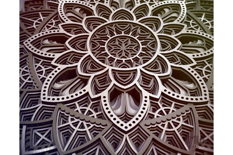 M19 - Circular Mandala Pattern, Layered Mandala DXF SVG example 8
