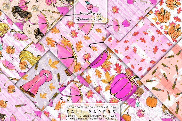 Fall Pumpkin Digital Paper Pack example image 1