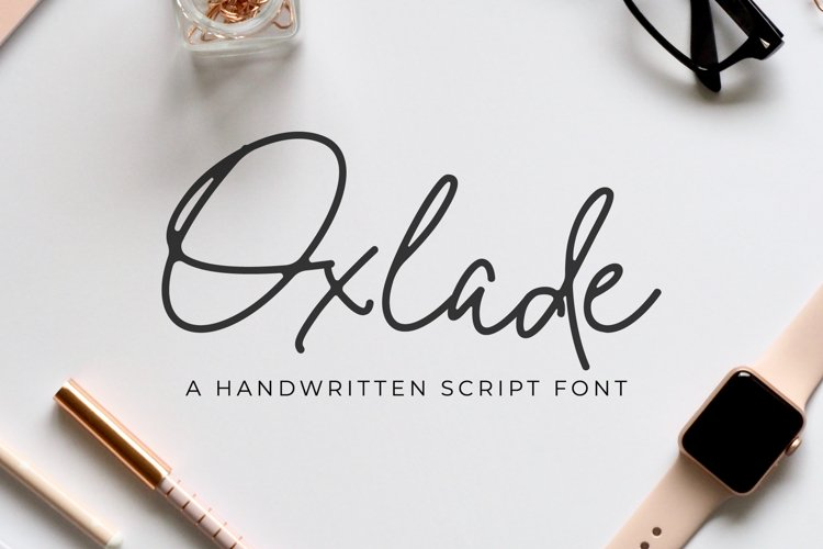 Oxlade Script Font example image 1