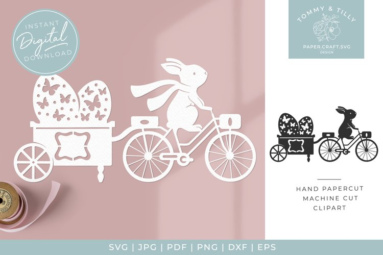 Easter Egg Trailer x 2 - Butterfly SVG Papercut Cutting File example