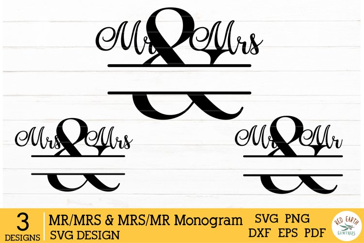 Mr & Mrs split monogram frame, mr and mr,mrs and mrs wedding