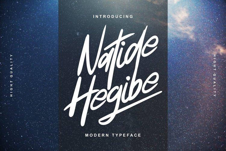 Natide Hegibe | Modern Typeface Font example image 1