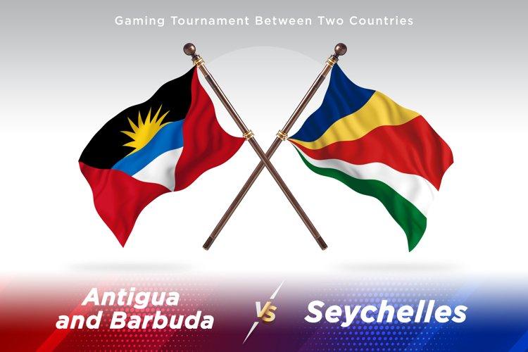 Antigua vs Seychelles Two Flags example image 1