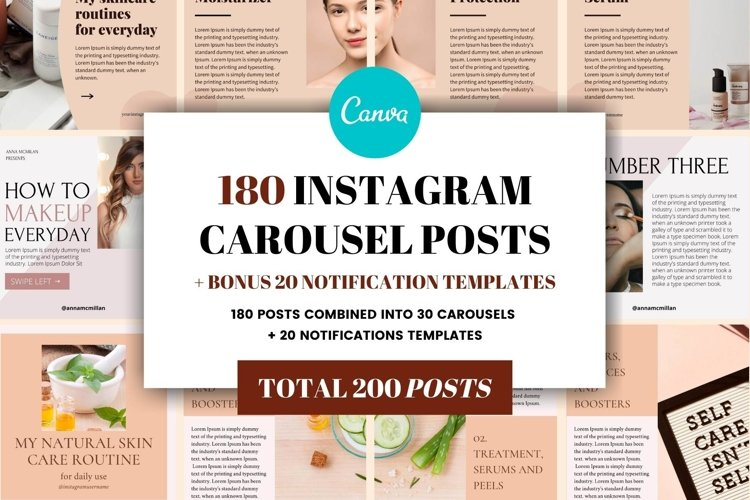 Instagram Carousel Template Bundle | Canva example image 1
