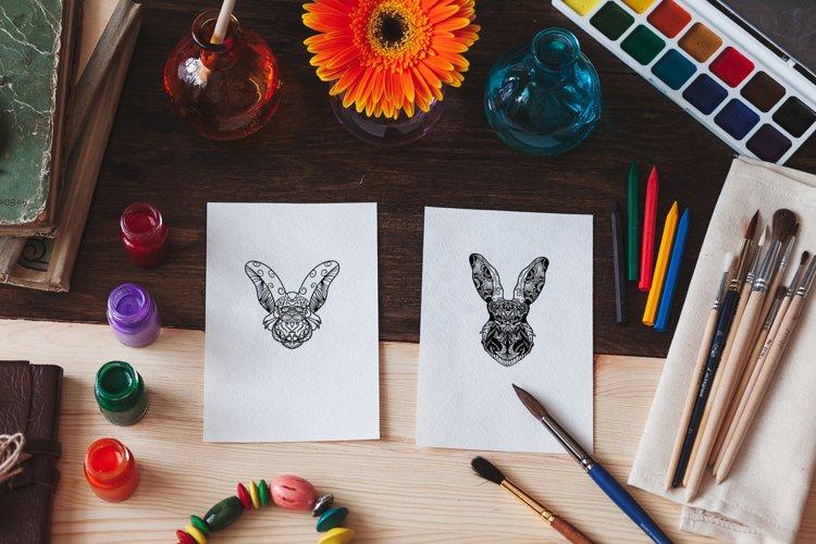 Rabbit Mandala Coloring Pages