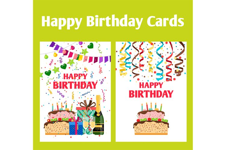 Birthday greeting cards set example image 1