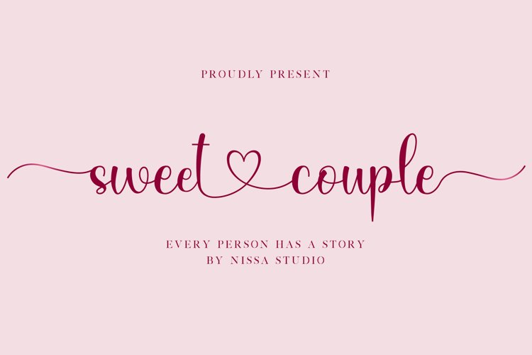 Sweet Couple - Lovely Script Font example image 1