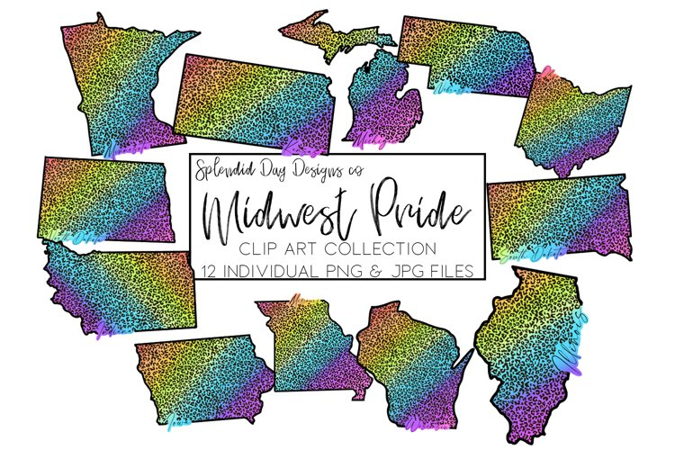 Midwest Pride States Clip Art example image 1