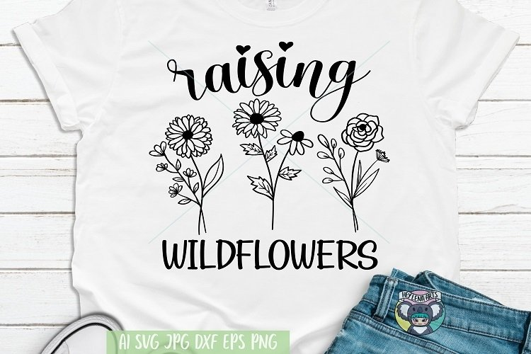 Raising Wildflowers svg, Field Plants svg, Wildflower svg