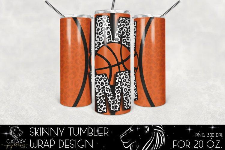 Basketball Mom 20 Oz. Skinny Tumbler Wrap Sublimation Design