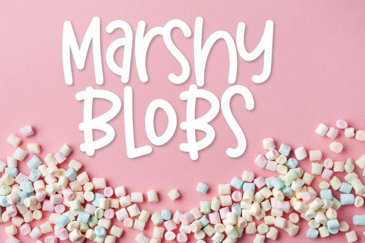 Web Font Marshy Blobs example image 1