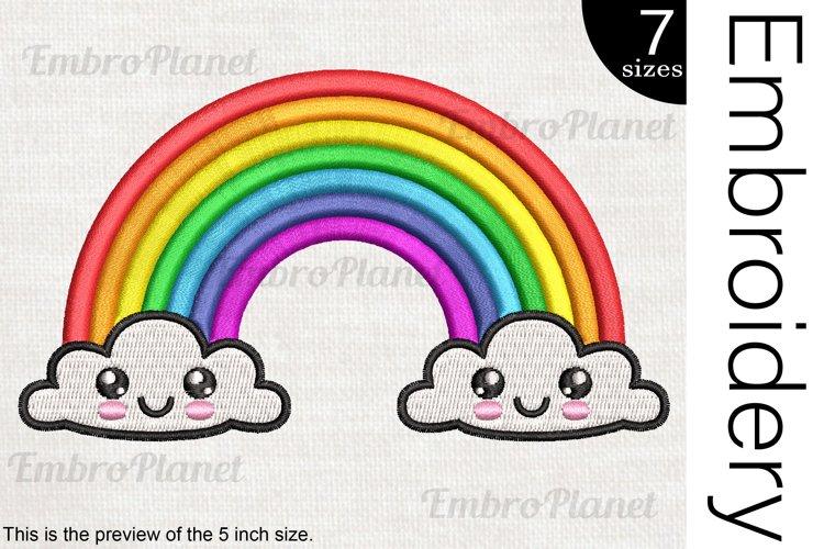 Kawaii Rainbow - Embroidery Files - 1493e example image 1