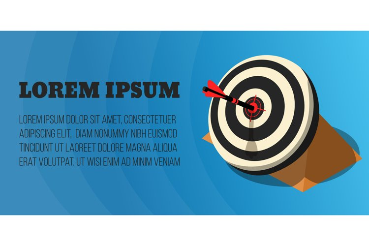 Target concept banner, isometric style example image 1