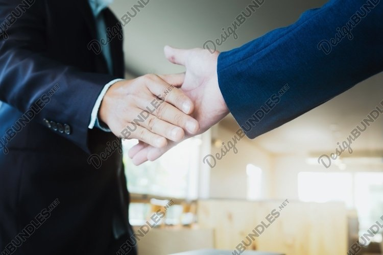 Businessmen handshake success, dealing, greeting & business. example image 1