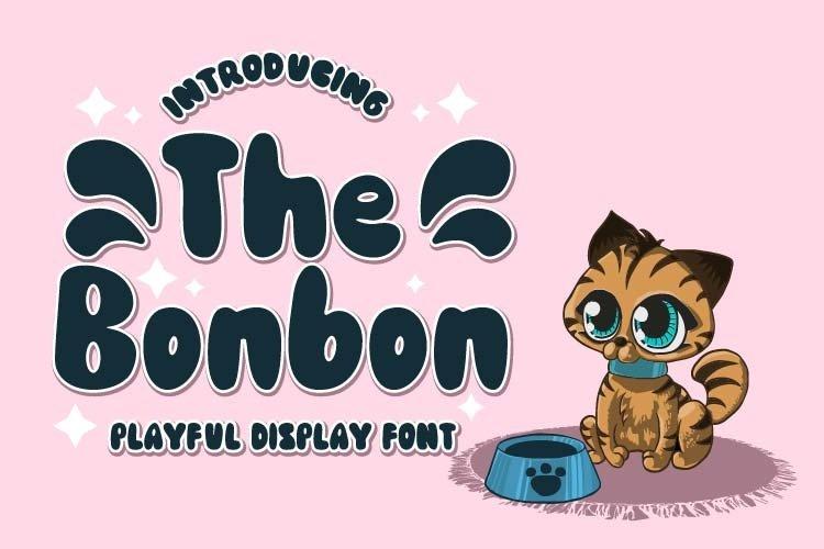 The Bonbon - Playful Display Font example image 1
