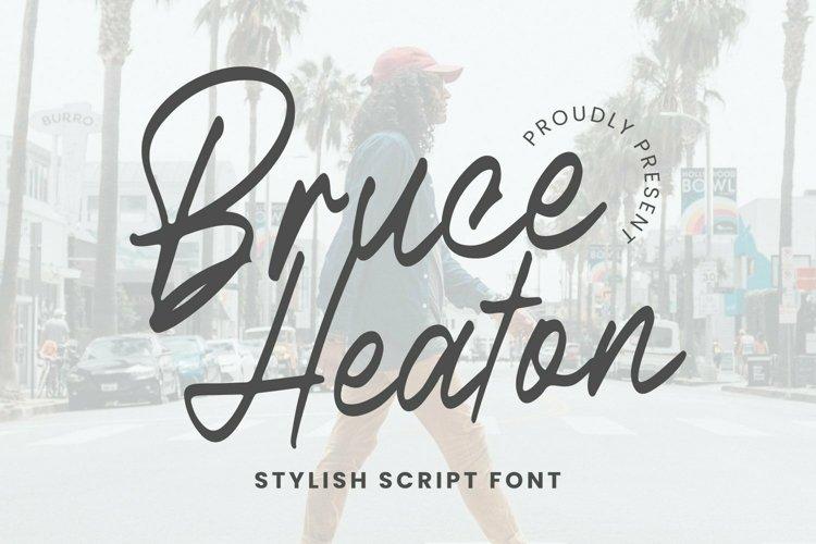 Web Font Bruce Heaton Font example image 1