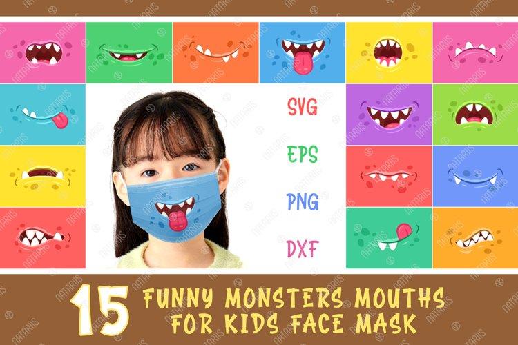 Svg Bundle 15 Funny Monsters Mouths For Kids Face Mask 571043 Cut Files Design Bundles