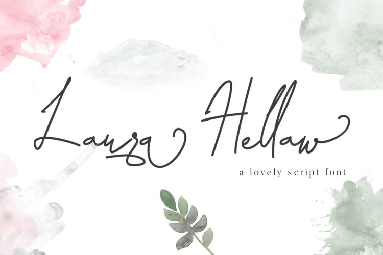 Laura Hellaw a lovely script font example image 1