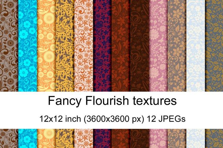 Fancy Flourish seamless textures example image 1