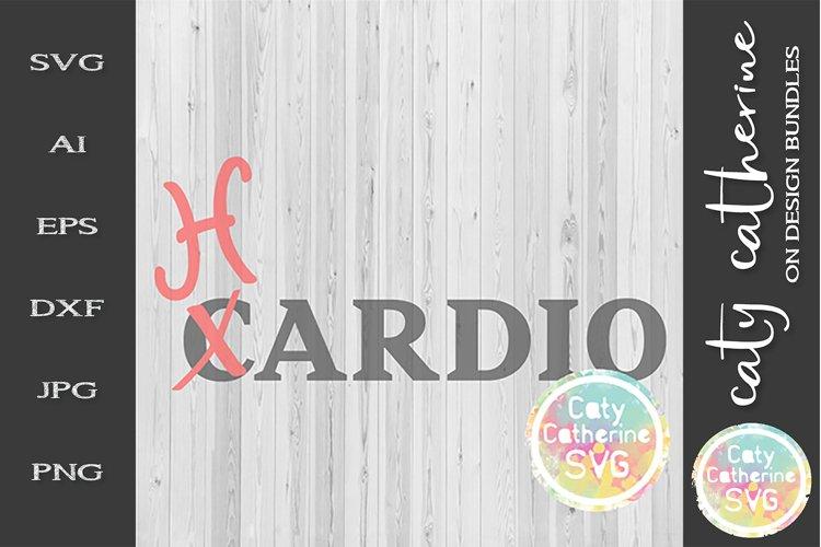Cardio Hardio SVG Workout Fitness Gym Funny Tee Design example image 1