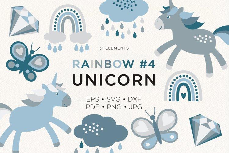 Unicorn Rainbow Butterfly Donut Diamond Vector Clipart #4 example image 1