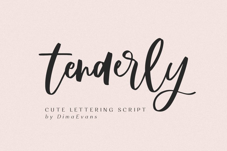 Tenderly Luxury Script example image 1