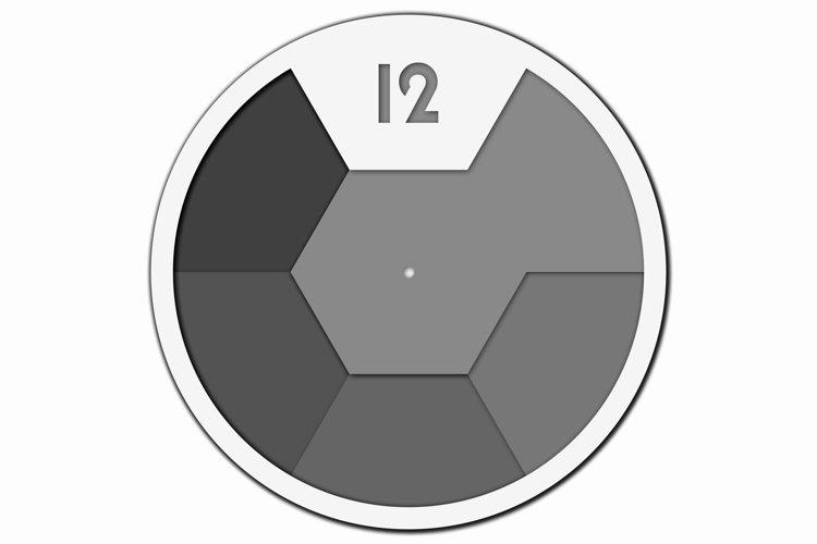 Layered Wall Clock SVG, Laser cut file Mandala, 3D Clock