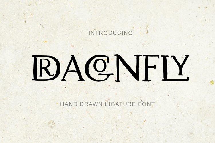 Dragonfly. Uppercase Ligature Font. example image 1